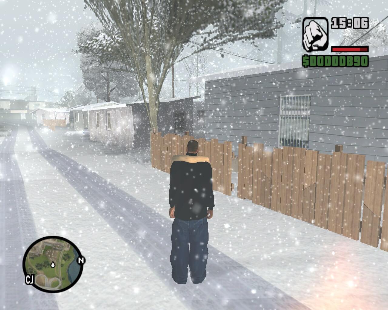 Как сделать зиму в гта сан 686
