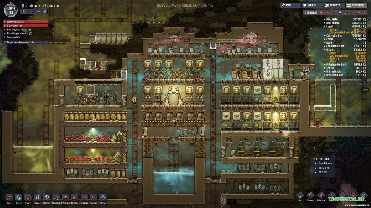 Oxygen Not Included Outbreak Upgrade
